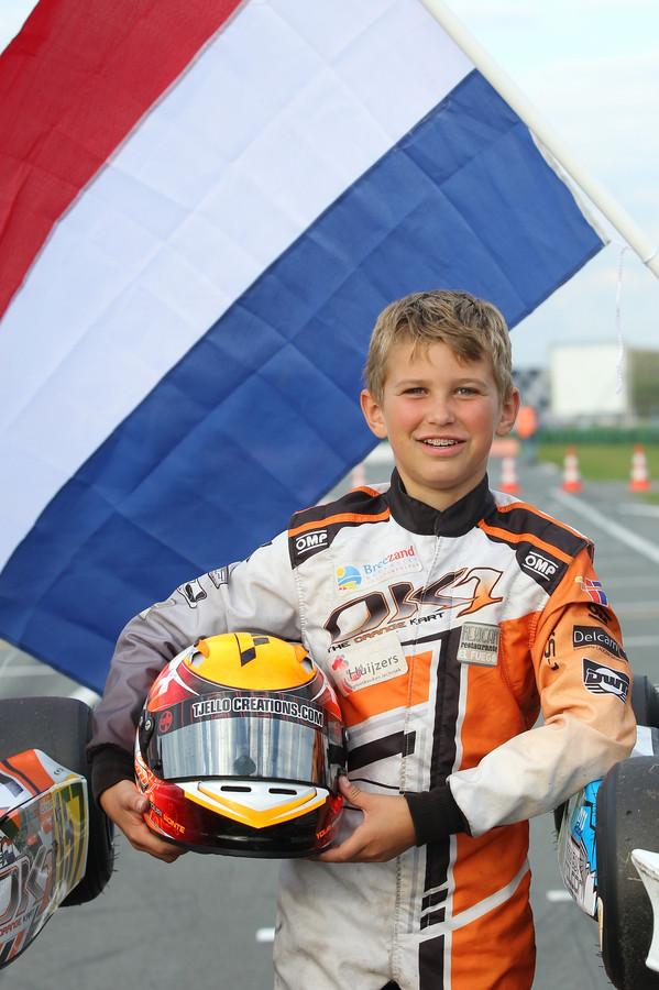 Karter Youri Bonte mag zich in zijn klasse de beste van Nederland noemen.