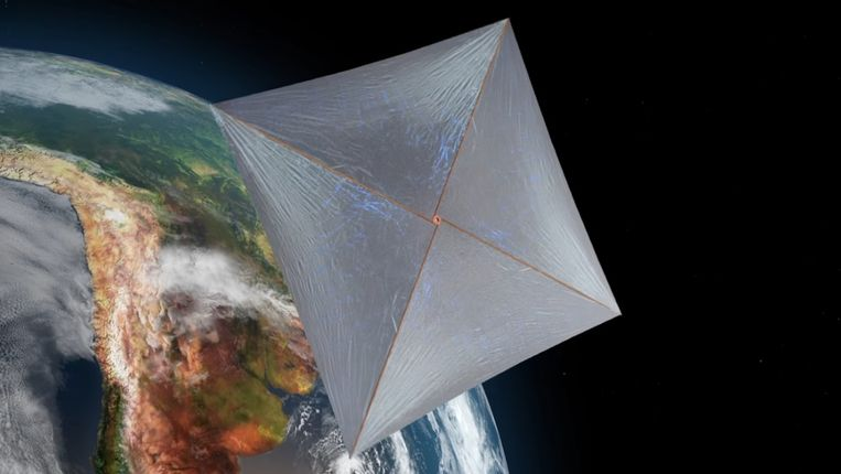 In een baan om de aarde wacht de sonde op energie.