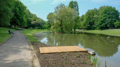 Vers water in vijvers van Leybeekpark, minder kans op overstromingen