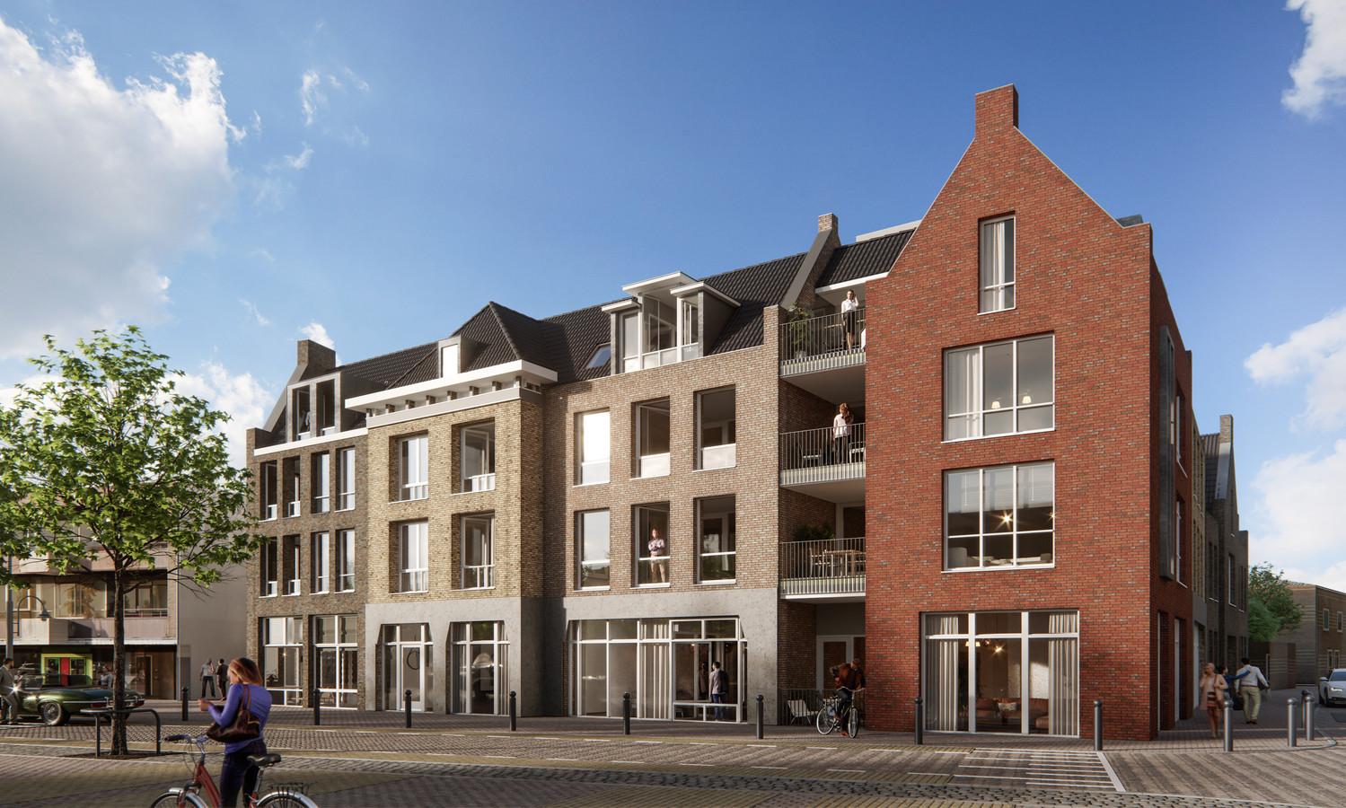 Het nieuwe bouwplan voor de Markt in Veghel.