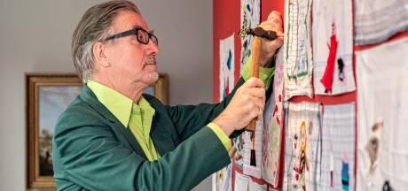 Deze kunstenaar maakte een bijzonder 'coronawerk': een verzameling van 'betraande' zakdoeken