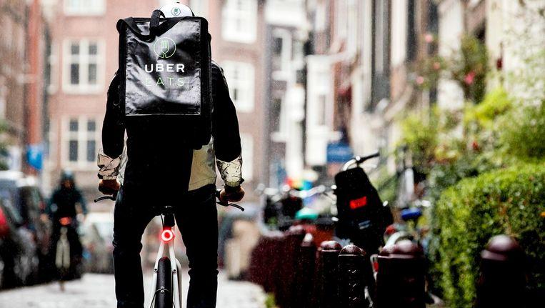 Een bezorger van UberEats Beeld ANP