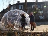 Een iglo in Fellenoord, in Breda: 'The Hottest Place in Town'.