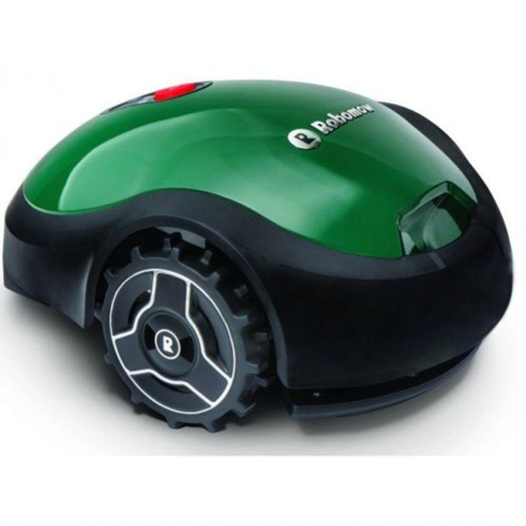 Een Robomow-grasmaaier.