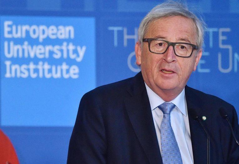 EU-commissievoorzitter Juncker Beeld epa