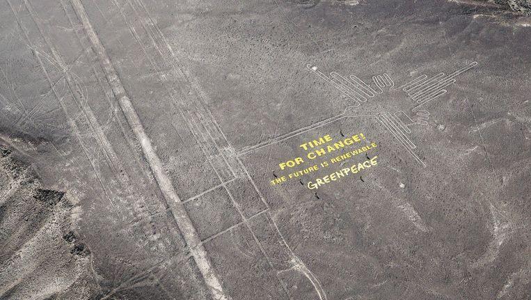 Greenpeace koos een ongelukkige plaats uit voor haar protestactie.