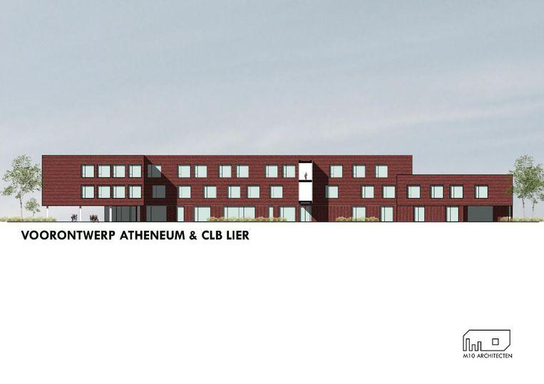 Zo zal het nieuwe schoolgebouw van Atheneum Campus Louis Zimmer er na de werken uitzien.