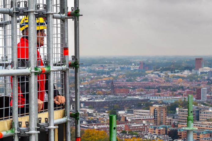 Uitzicht vanaf het hoogst bereikbare punt op de Domtoren.
