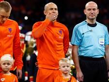 De tranen van Robben bij zijn laatste Wilhelmus