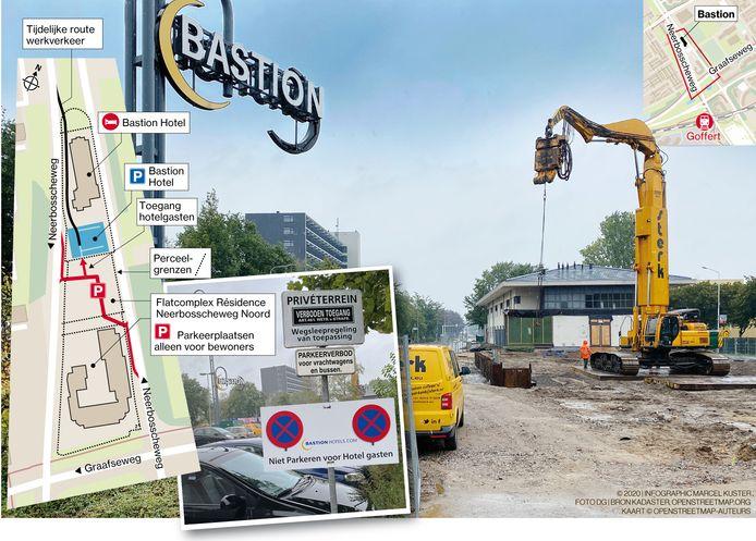 Bastionhotel kan voorlopig verder bouwen in Nijmegen.