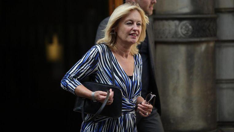 Minister Jet Bussemaker na afloop van de wekelijkse ministerraad op het Binnenhof Beeld ANP