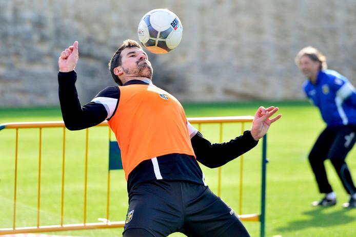Piet Velthuizen tijdens een eerdere training.