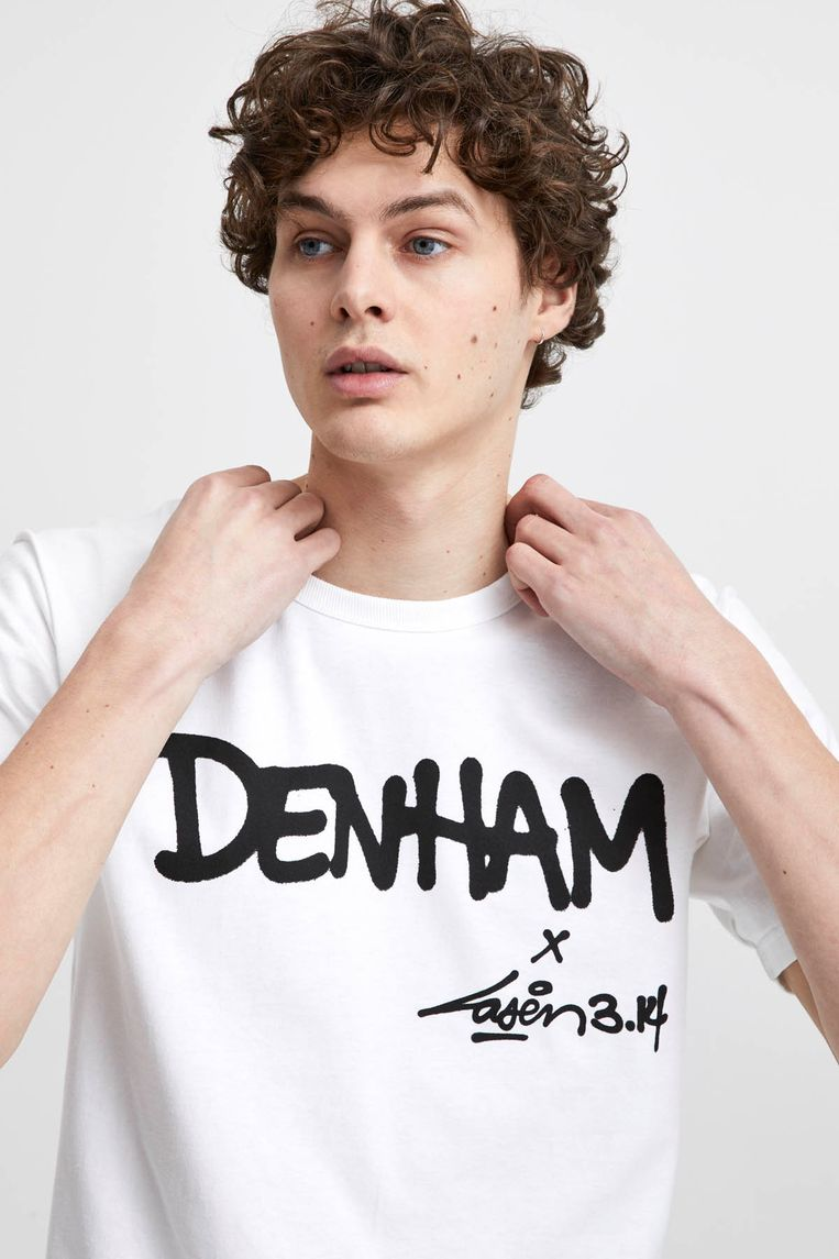 De limited collectie voor het Amsterdamse jeanslabel Denham wordt donderdag gelanceerd.  Beeld Leo Chan
