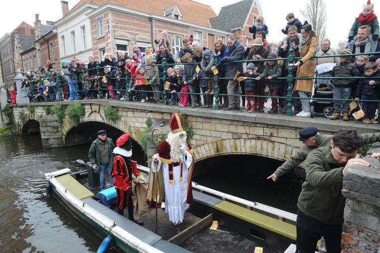 Sinterklaas bij een vorig bezoekje aan Lier.