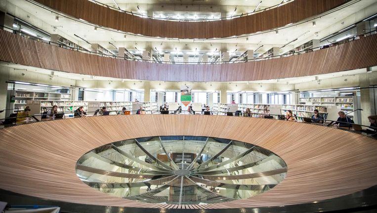 De bibliotheek van de universiteit van Wageningen. Beeld anp