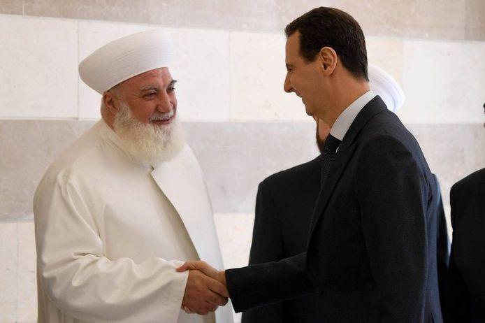 Le mufti de la province de Damas et Bachar al-Assad