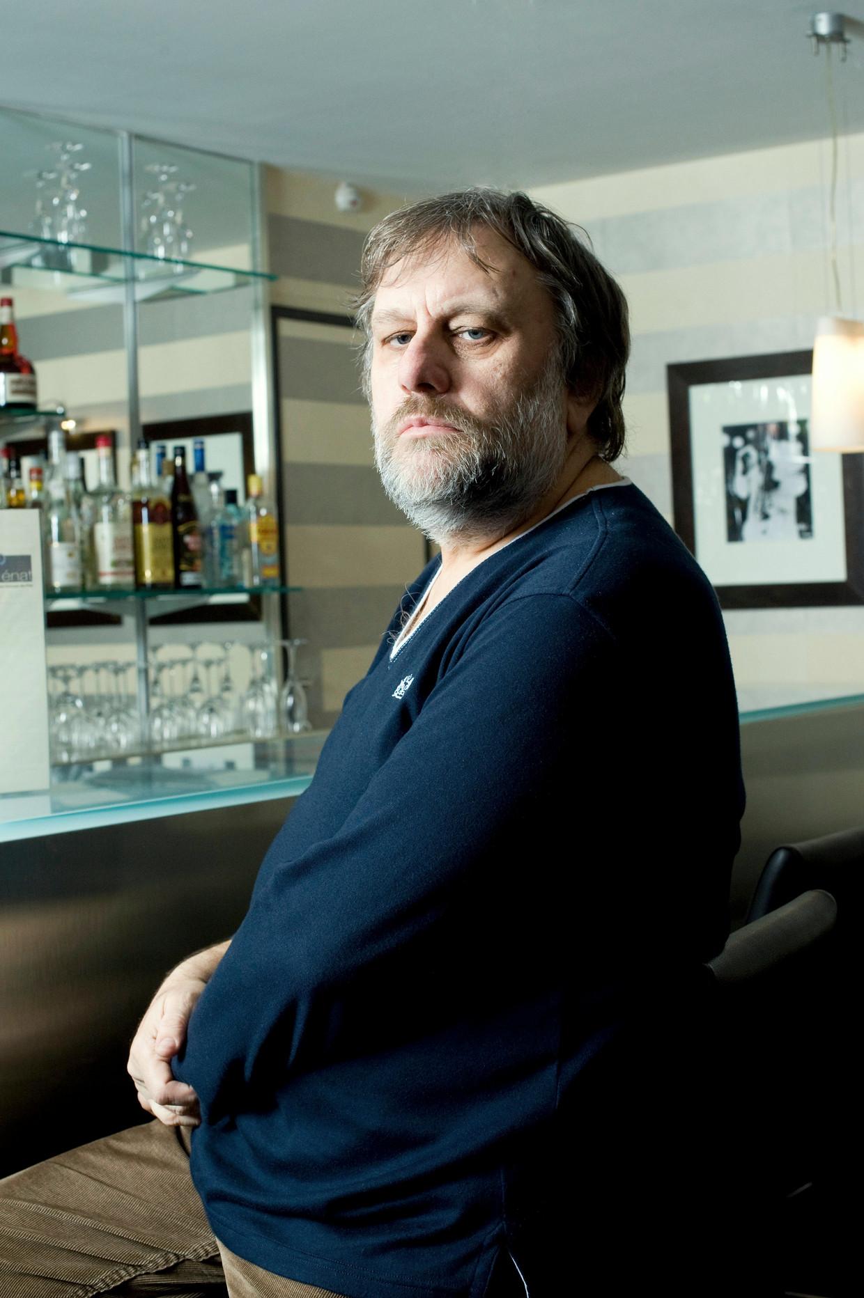 Portrait of Slavoj Zizek. Portrait de Slavoj Zizek. Beeld Christophe Beauregard