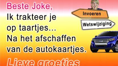 Joke Schauvliege ontving al 12.000 autokaartjes na oproep in 'Make Belgium Great Again'