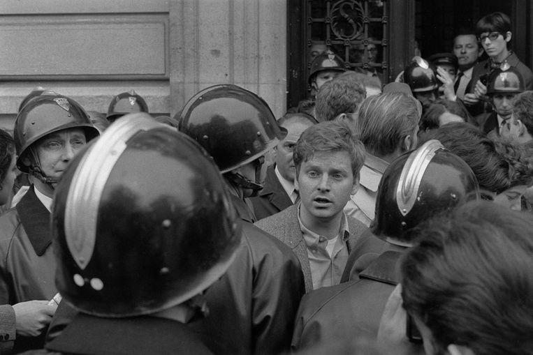 Mei 1968: studentenleider Daniel Cohn-Bendit voert actie voor de Sorbonne-universiteit Beeld Hollandse Hoogte