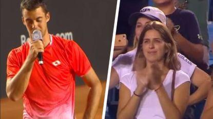 Jonge tennisser die beide ouders aan kanker verloor, pakt na toernooiwinst in Rio uit met bijzonder mooie speech