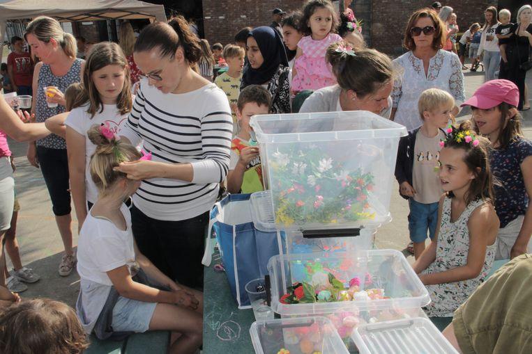 De kinderen namen op een slotfeest vol activiteiten afscheid van de speelpleinwerking.