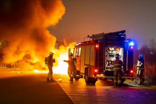 Autobrand in Berghem.