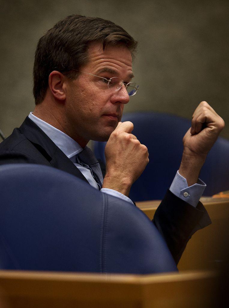Premier Rutte Beeld null