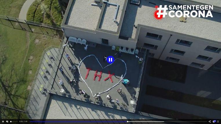 De drone van VTM Nieuws en HLN kwam in Ingelmunster langs, onder andere bij het Maria Rustoord.
