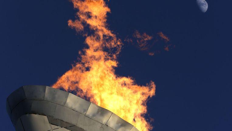 De Olympische vlam. Beeld ap