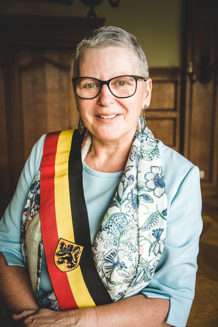 Ann Coopman, op één van haar laatste foto's als burgemeester.
