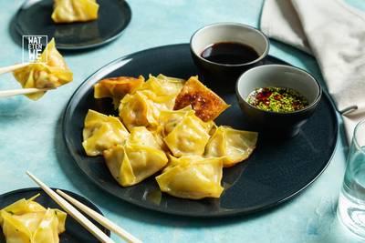 Wat Eten We Vandaag: Dumplings gevuld met garnalen