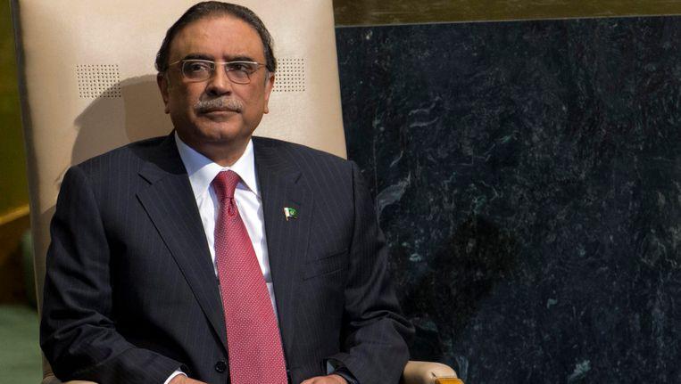 De Pakistaanse president Asif Ali Zardari. Beeld REUTERS