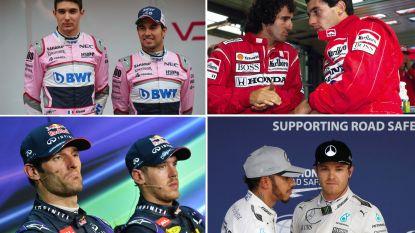 Verstappen en Ricciardo zijn niet de eersten: ook deze teamgenoten reden elkaar in de prak