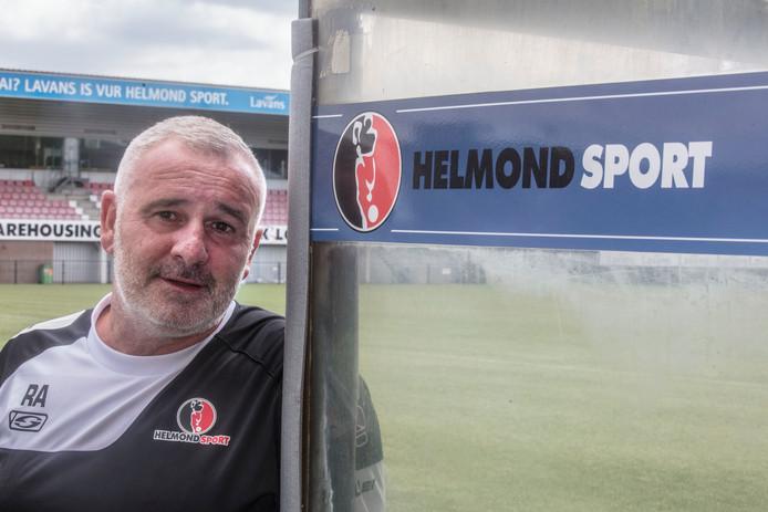 Helmond Sport trainer Robby Alflen in Helmond