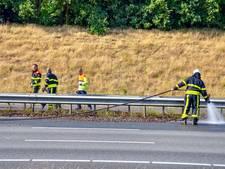Bermbrand langs A58 bij Tilburg zorgt voor fikse vertraging