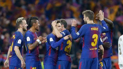 Barcelona heeft geen enkele moeite met Sevilla in Spaanse Bekerfinale