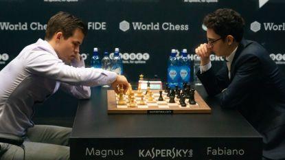 Carlsen blijft wereldkampioen schaken, Caruana plooit in beslissende partijtjes snelschaak