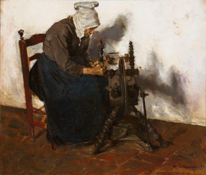 Max Liebermann, 'Spinster te Dongen', 1880.
