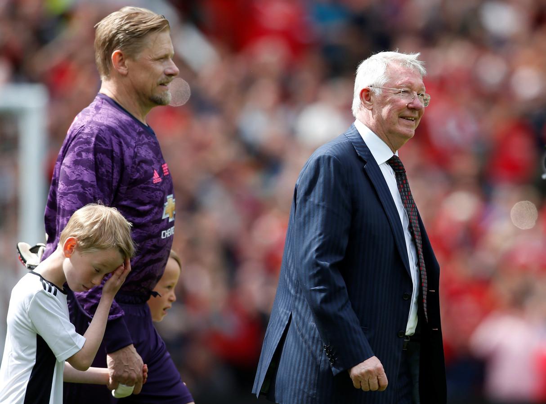 Sir Alex Ferguson en Peter Schmeichel.