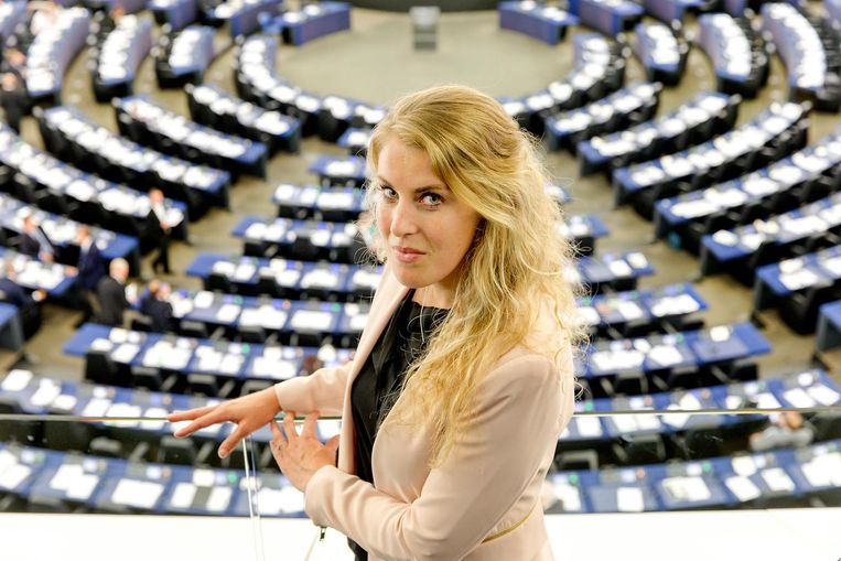 De foto van Vicky Maeijer die donderdag op de voorpagina stond. Beeld anp