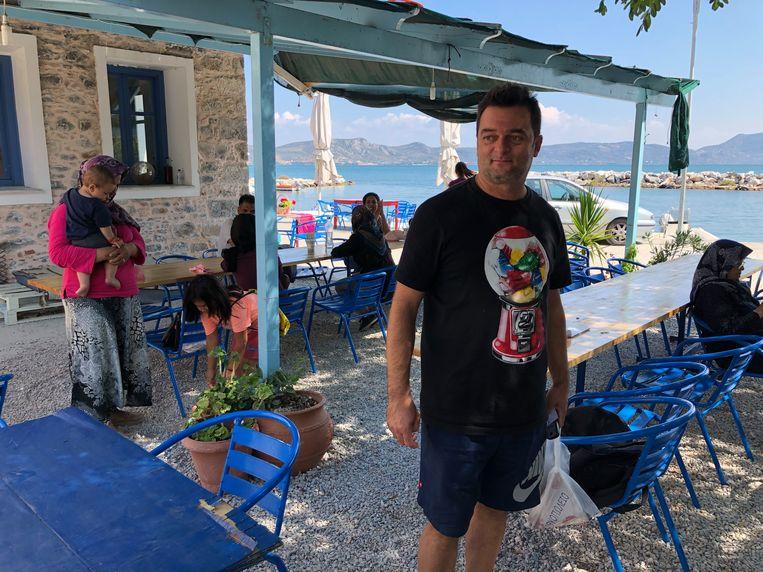 Restauranthouder Nikos Katsouris Beeld Thijs Kettenis