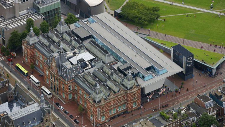 Het Stedelijk Museum in Amsterdam. De kelder van de 'badkuip', de nieuwbouw, gaat dicht. Beeld Hollandse Hoogte
