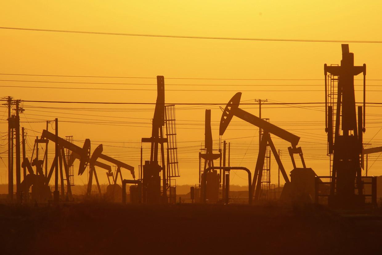Een installatie voor de winning van schalie-olie in Californië.