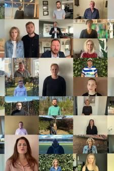 44 Achterhoekse naobers steunen elkaar met opbeurende video in coronatijd