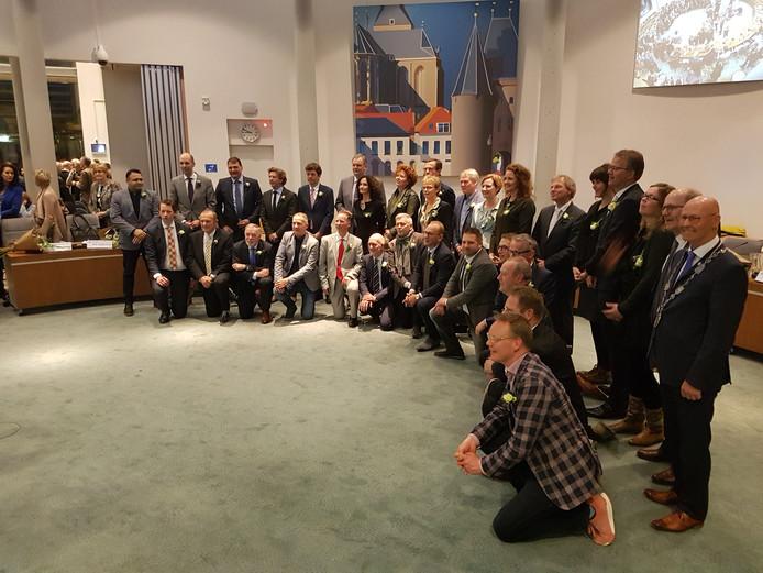 De nieuwe gemeenteraad van Kampen.
