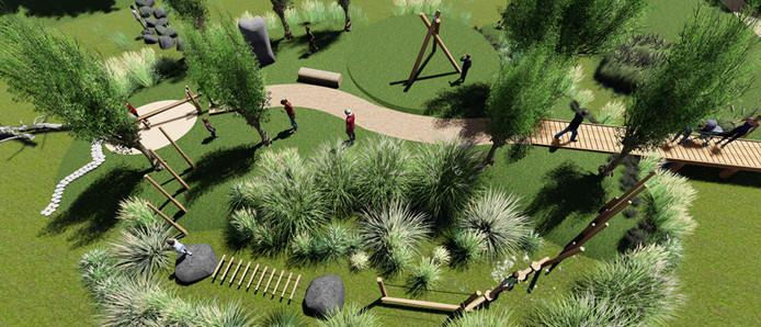 Ontwerp van een speelplaats in Leusden.