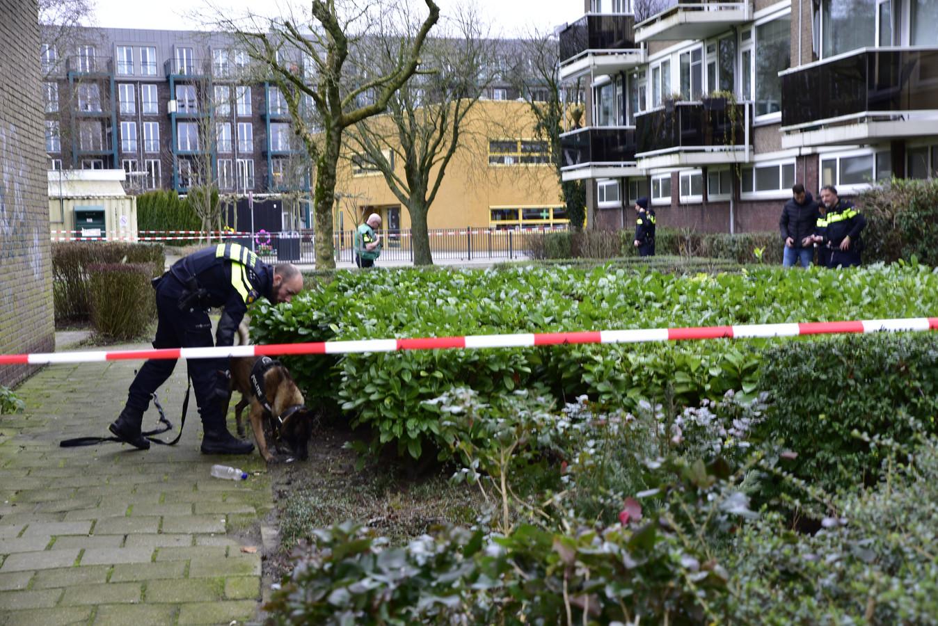 De politie doet onderzoek in de buurt van de school.
