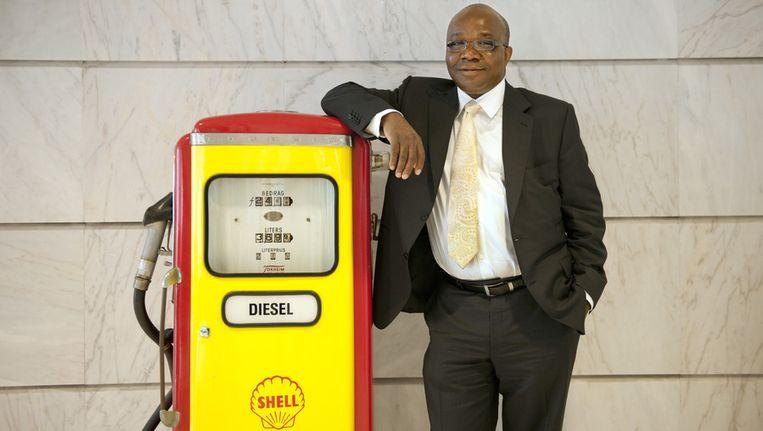 Mutiu Sunmonu, de hoogste baas van Shell in Nigeria. Beeld ANP