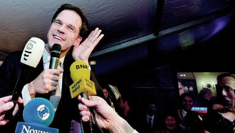 Premier Rutte vorige week na de Provinciale Statenverkiezingen. Foto: anp Beeld