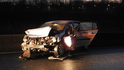 Spookrijden op versperde R4 na ongeval